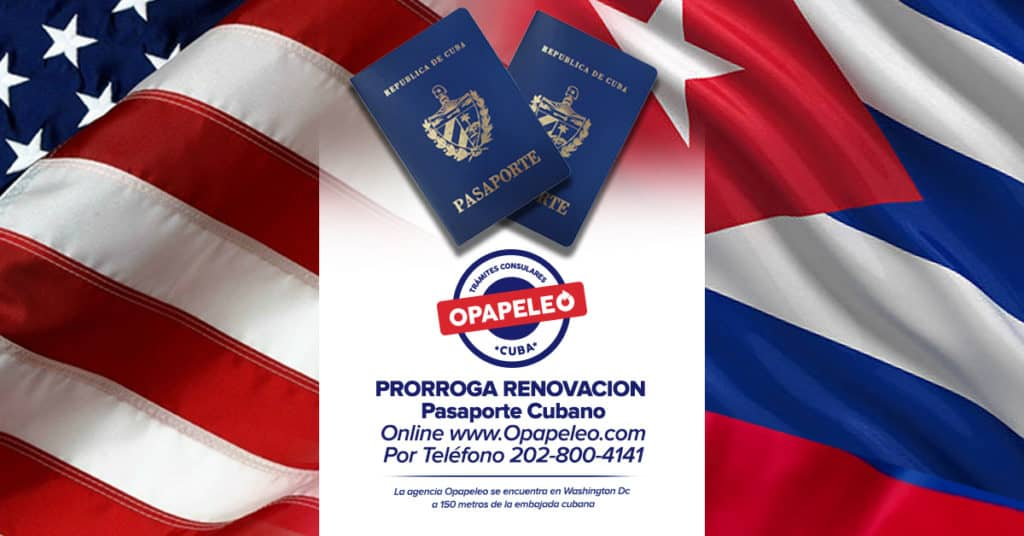 Prórroga Renovación Pasaporte Cubano